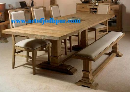 Dining room furniture in solid wood