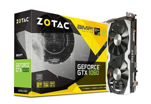 1060 6GB Zotac Graphics Card with IceStorm cooling -