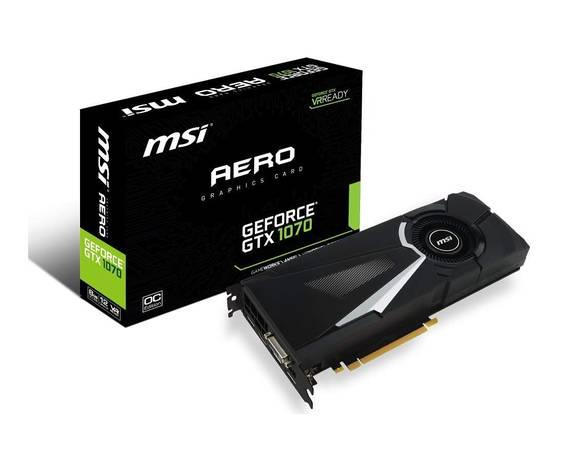 1070 msi Aero Graphics Card - computer parts - by owner
