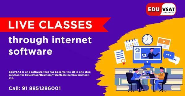Live classes through internet software at eduvsat -
