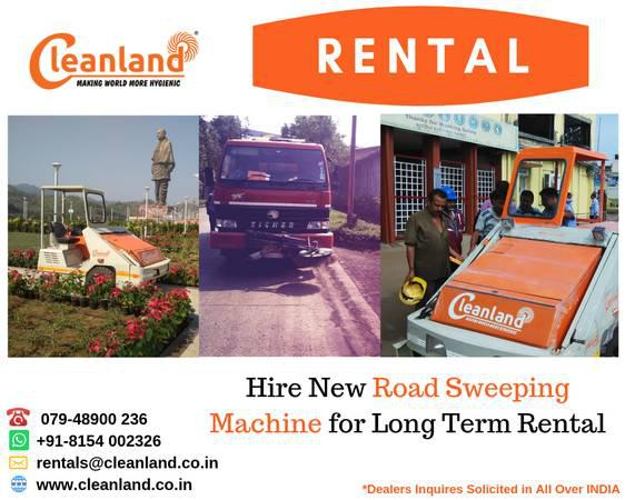 Hire road cleaning machine on rent - heavy equipment - by