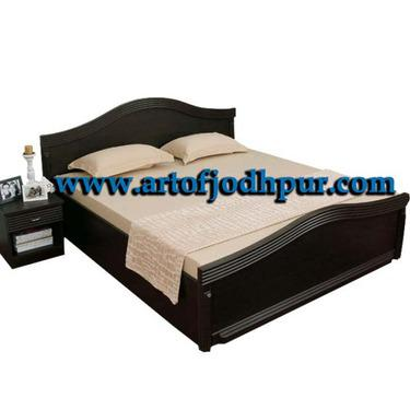 Furniture online wooden double bed with storage