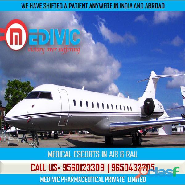 Avail superb life savior air ambulance service in varanasi by medivic