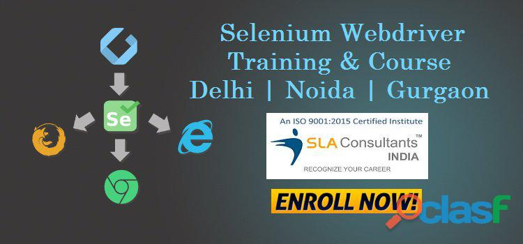 Enhance your skill by joining the best selenium training course in gurgaon