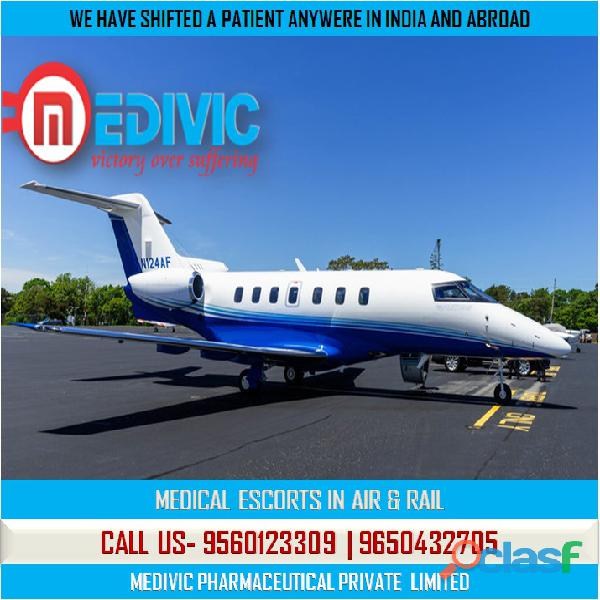 Get creditable patient rescue air ambulance service in dibrugarh by medivic