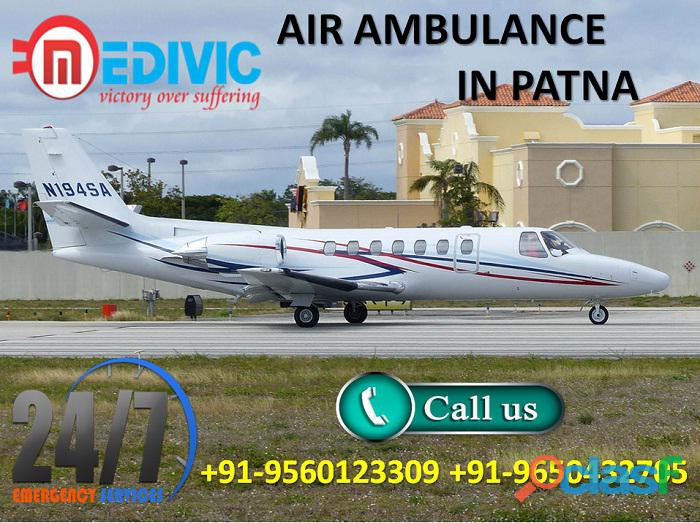Get the best icu care healthcare air ambulance service in patna by medivic