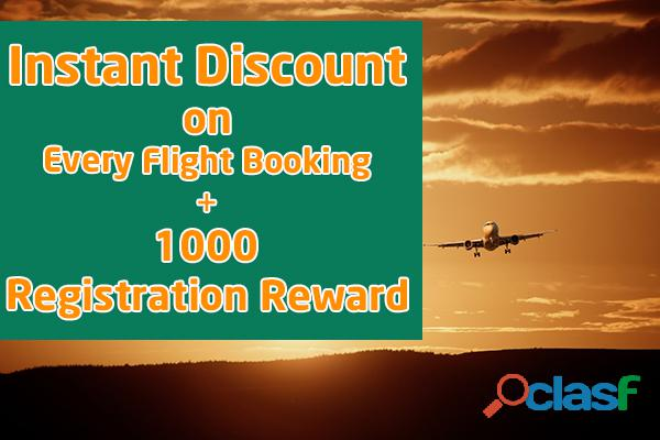 Grab instant discount on all flight ticket bookings