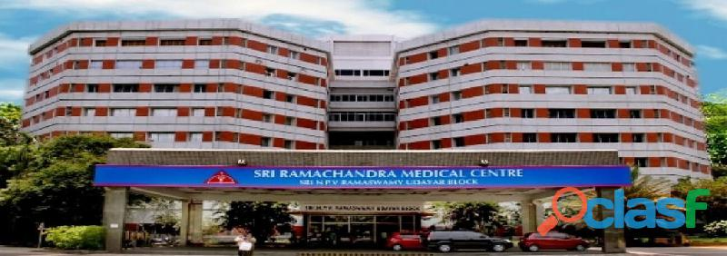 Sri ramachandra medical college courses   mbbs in srmc