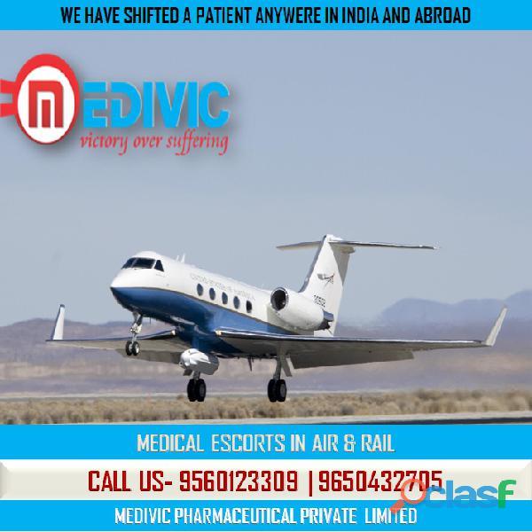 Use immediate icu care air ambulance service in kolkata by medivic