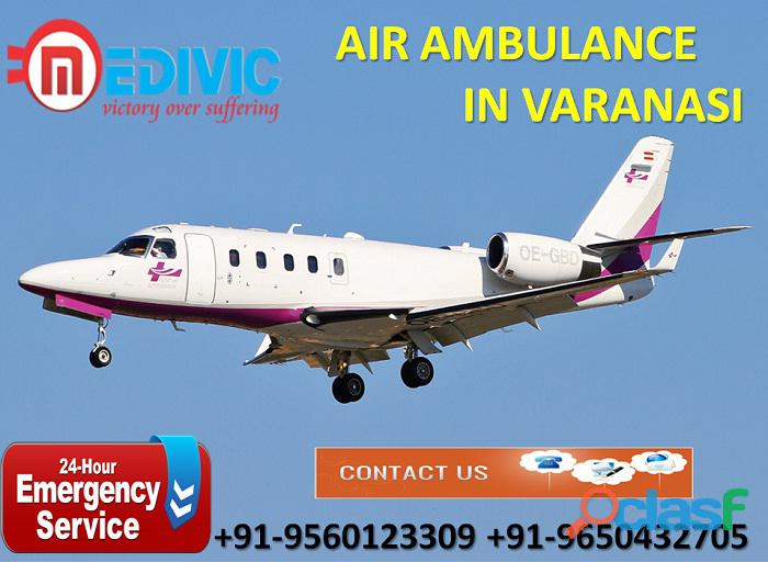 Utilize appropriate rescue charter air ambulance service in varanasi by medivic