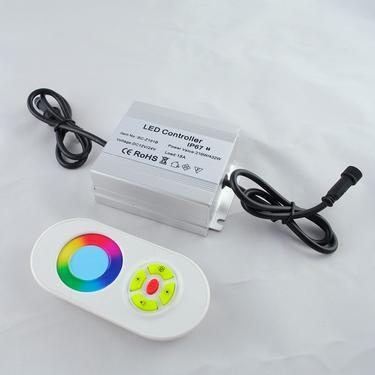 Waterproof led controller with rf touth remote control
