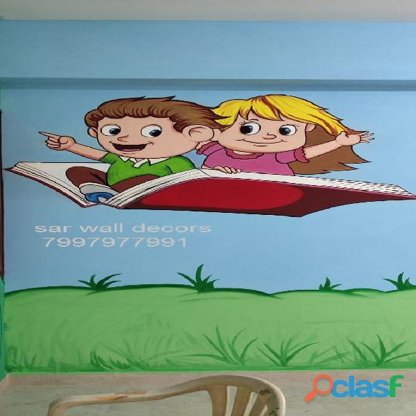 Educational themed wall Art painting in Hyderabad