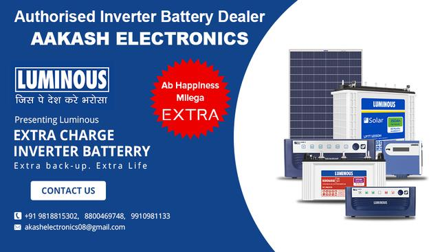 Inverter battery dealers in noida india aakash electronic