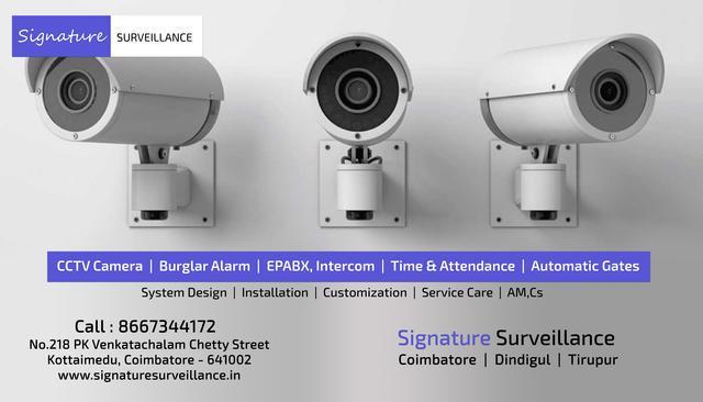 Signature Top CCTV Installation Service in Tirupur