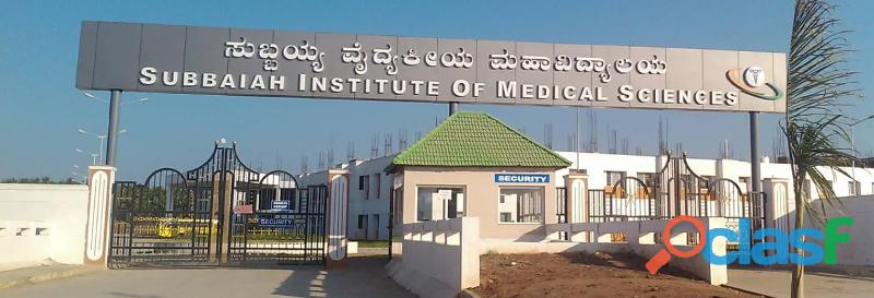 Subbaiah medical college fes structure | subbaiah institute of medical sciences fees