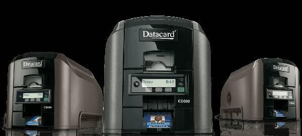 Datacard sp35 plus single-sided color id card printer w/usb