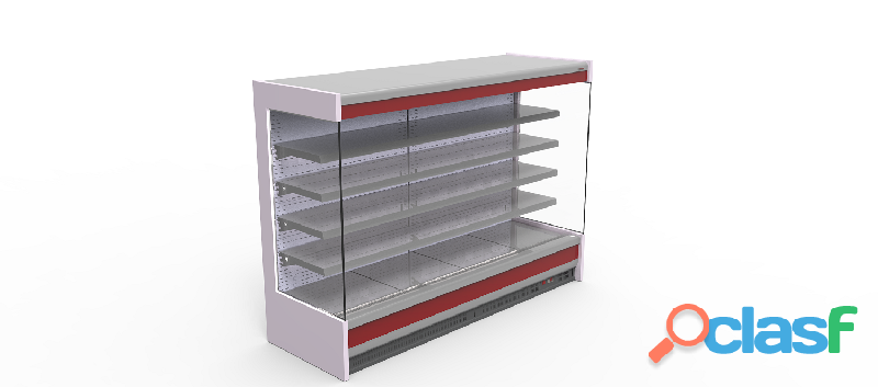 Display case refrigerated counter