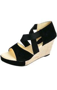 Black heel wedges