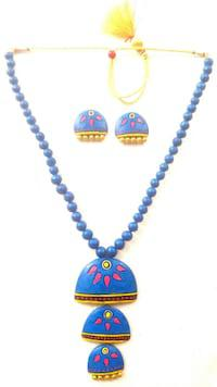 Contemporary handmade terracotta necklace sets is highly
