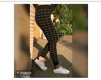 Cotton checked skinny fit jeggings
