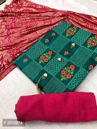 Cotton womens dress materials