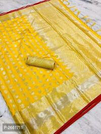 Designer silk cotton saree with blouse