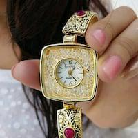 Golden colour girl's watch!!!!????????????