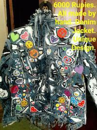 Handycraft denim jeans made by fashion designer.