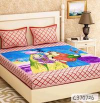 Joipuri printed cotton double bedsheet