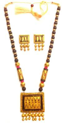 Magnificent terracotta necklace sets are myriad innovative