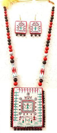Modish terracotta jewellery uses ethnic designs and vivid