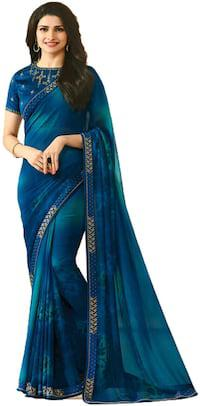 Multicolor georgette embroidered bollywood saree