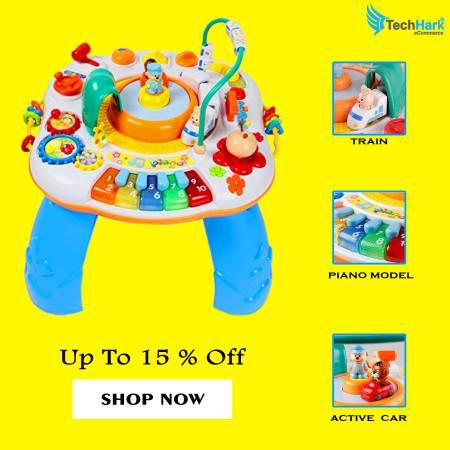 Multifunctional activity table for kids | learning toy -