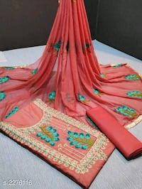 Trendy cotton embroidered suits and dress material