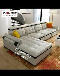 L safe headrest sofa