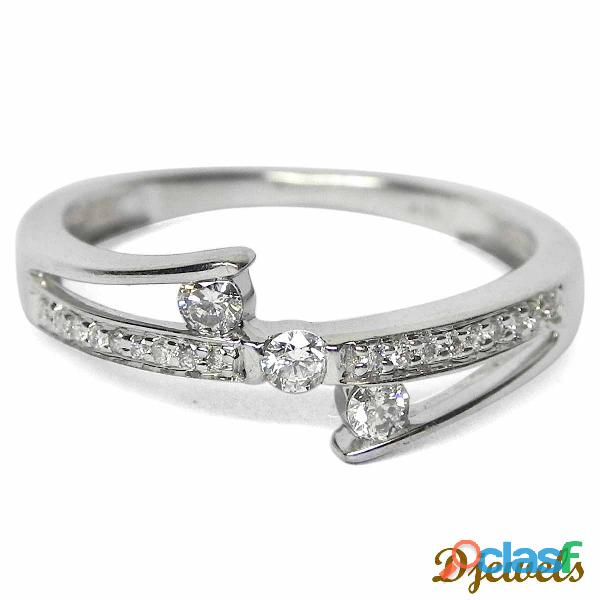 Stud Diamond Ladies Ring
