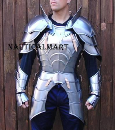 NAUTICALMART Medieval Knight Reenactment Steel Armour