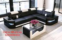 L shape sofa with dasing table
