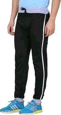Mens casual cotton blend track pants