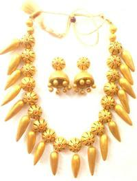 Festive magnificent terracotta necklace fashionable sets are