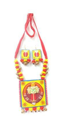 Festive wonderful terracotta durga necklace sets could be