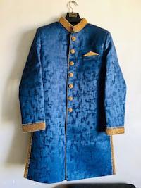 Royal blue designer sherwani for men