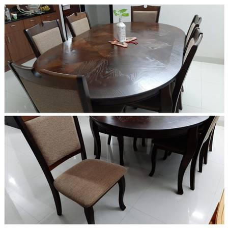 Premium 6-seater Rubber wood Dining table - furniture - by