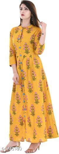 Trendy rayon printed kurti