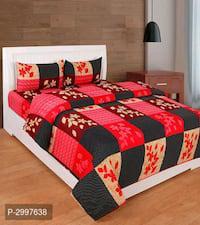 Glace cotton 3d printe double bedsheet