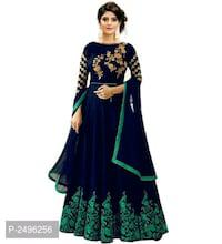 Designer embroidered gowns