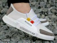 Elegant white multi elements sports sneakers*