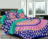 Hometrade india double bedsheet with two pillow cover