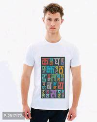 Printed cotton round neck t