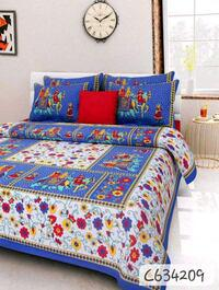 Jaipuri printed cotton double bedsheets vol